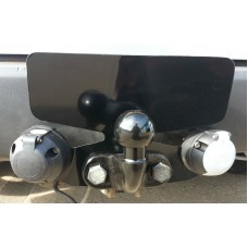 Towbar Bumper Protector Plate Double Socket Heavy Duty Black (CPBP153)