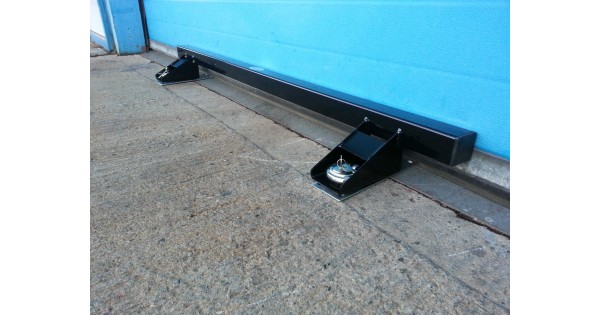 Garage Door Lock Heavy Duty Defender Security Bar System Black